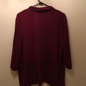 CJ Banks Sweaters - CJ Banks 1X maroon sweater top